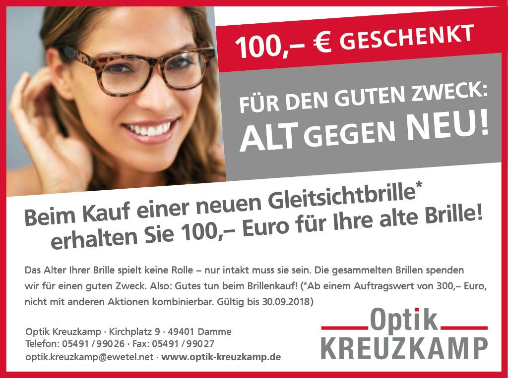 ALT gegen NEU! Gutes tun und 100,- Euro geschenkt bekommen!